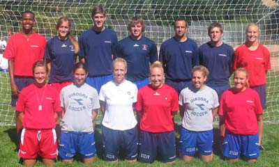 Staff: (Standing, left to right) Indar Smith, Kristy Adcock, Ryan McOwen, Mark Roberts, Tom Ginocchio, Bjorn Nunan, Val Henderson. (Kneeling, left to right) Kelly Farrell, Lizzie Masland, Kelly Ginocchio, Stephanie Pearson, Rachel Resneck, Ryan Hedrick.